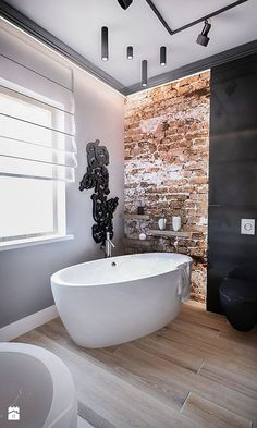 25 Stylish And Trendy Bathroom With Exposed Brick Tiles House Design, Trendy Bathroom, Brick Tiles, Master Bathroom Design, Stylish Bathroom, Exposed Brick, Bathroom Interior, Modern Bathroom, Luxury Bathroom