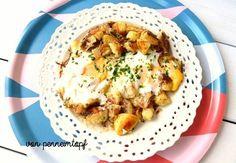 Bratkartoffeln mit Käse und Ei