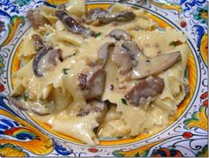 Pasta with truffle cream sauce - Made with mom tonight in our kitchen in Siena