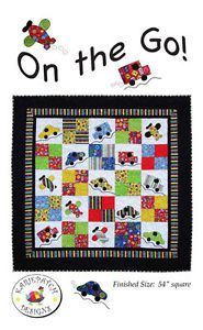 On the Go! Quilt Pattern, KariePatch Designs, Cars Boys
