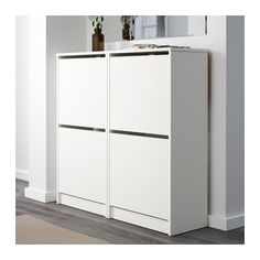 BISSA Armoire à chaussures 2 casiers - blanc - IKEA