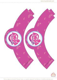 Wrapper para cupcake para imprimir de Mi Pequeño Pony #MundoMab www.mundomab.com