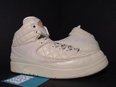 Nike Air Jordan II 2 Retro JUT DON C BG BEACH BEIGE GOLD RED WINGS 839604