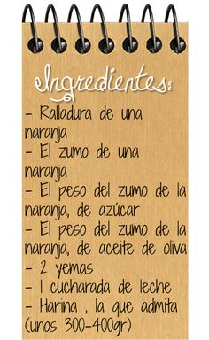 ingredientes galletas de naranja Quick Recipes, Healthy Recipes, Chocolate Caliente, Sweets Cake, Sweet Life, Flan, Pesto, Fondant, Caramel