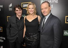 Breaking Bad Season 5 Premiere Party Photos  RJ Mitte (Walter White, Jr.), Anna Gunn (Skyler White) and Bryan Cranston (Walter White)