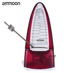 ammoon Portable Universal Mechanical Metronome Duple Triple Quadruple Sextuple for Guitar Violin Ukulele Music Instrument Lovers Beginners