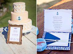 Nautical cake and invites Nautical Cake, Nautical Wedding, Nautical Theme, Camo Wedding Cakes, Wedding Favors, Wedding Blog, Wedding Fun, Wedding Flowers, Wedding Ideas