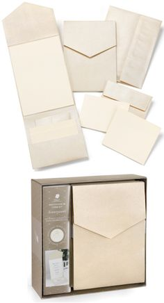 DIY Champagne Shimmer Pocket Wedding Invitation Kit (Set of 25) for $28.50