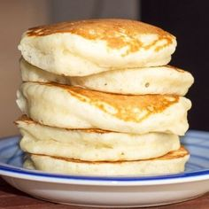 Fluffy, Fluffy Pancakes! I whipped the egg white (and added another two whites).
