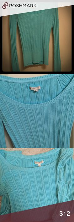Old Navy Sweater Light blue sweater with small pocket on one sleeve. Wide neck / off shoulder Old Navy Sweaters Cardigans