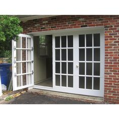 Lovely French Window Doors And A Garage Door In One