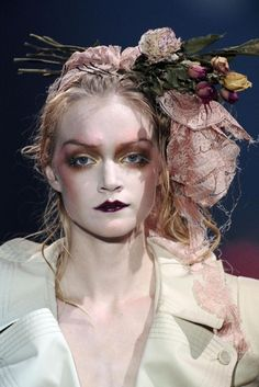 John Galliano Runway Makeup Spring 2009