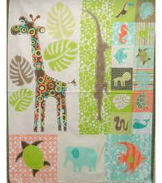 Applique Ideas! The giraffe goes with Alaina's room and so does the elephant and the alligator