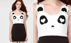 Panda Dress Is Unbearably Cute  http://www.incrediblethings.com/style-and-gear/panda-dress-is-unbearably-cute/