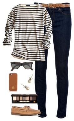 neutrals in spring by classically-preppy on Polyvore featuring polyvore, fashion, style, J Brand, Sperry Top-Sider, J.Crew, Tory Burch, Dorothy Perkins, Bobbi Brown Cosmetics, women's clothing, women's fashion, women, female, woman, misses and juniors