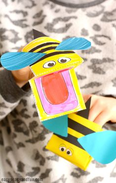 Printable Bee Puppet Paper Craft