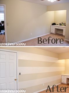 The Lazy Girl's Timesaving Tips For Painting Wall Stripes