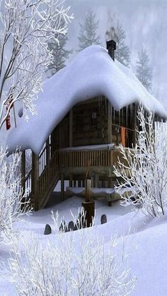 Hd Desktop Wallpaper: Forest in the Mountain & Winter Season Winter Cabin, Winter Snow, Winter White, Winter Christmas, Winter Coat, Winter House, Snow Cabin, Cozy Cabin, Christmas Cards