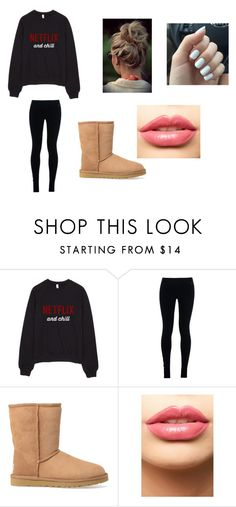 """""""Netflix and Chill"""" by fashionista-dxliv on Polyvore featuring NIKE, UGG Australia, LASplash, women's clothing, women, female, woman, misses, juniors and LazyDay"""