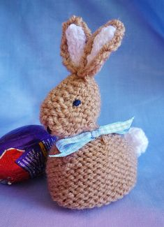 Knitting pattern easter bunny creme egg cover by crazydazyknits babs bobby bunny a pattern devised by myself fits a standard cadburys crme egg a lovely easter gift great for easter egg hunts 4 page pattern with negle Gallery