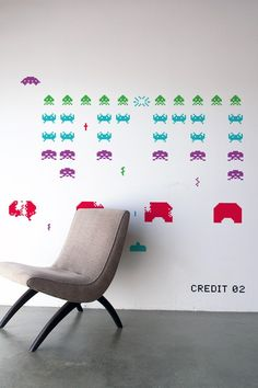 Space Invaders ~ Re-Stik.   You probably have to be born in the 1970-80's to appreciate this