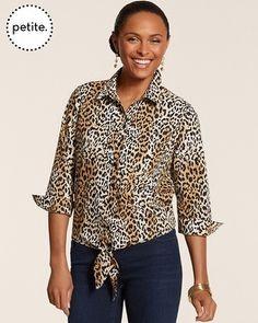Chico's Petite Effortless Leopard Luxe Tyree II Top #chicos