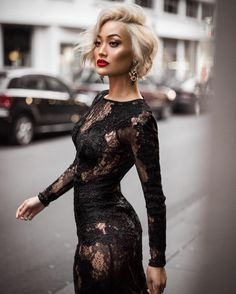 micahgianneli, fashion, chic, lacedress, blacklace