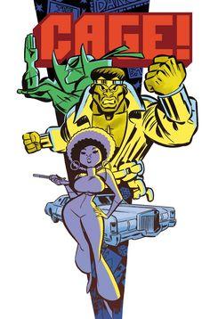 Cage Now marvel comic books luke power man Comic Book Characters, Comic Character, Comic Books Art, Character Design, Book Art, Luke Cage, Marvel Heroes, Marvel Comics, Cosmic Comics