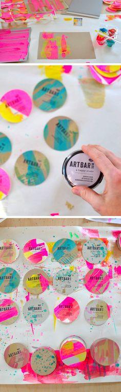 The Top 15 DIY Business Cards - Design Ideas || Custom round DIY business cards by Artbar