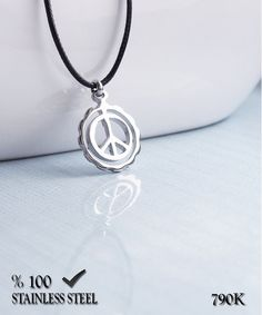 Axcesi 790 Peace symbol stainless steel pendant 19mm X by Axcesi