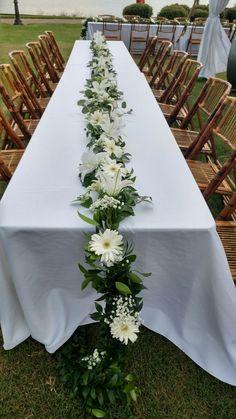 Altar Decorations, Outdoor Wedding Decorations, Wedding Table Centerpieces, Flower Centerpieces, Table Arrangements, Floral Arrangements, Wedding Bouquets, Wedding Flowers, Table Garland