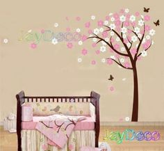 maybe in white? Vinyl Baby Tree Wall Decals Tree Removable Wall by Jaystore, $48.99
