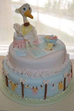 Adorable Mother Goose cake by rodiva.