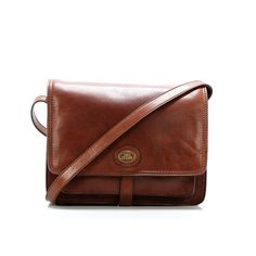 8dfe33b35cf5a The Bridge Story Donna Shoulder Bag Leather brown. Checked. Branded Bags