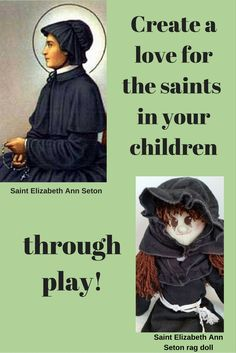 Great way to celebrate going back to school and inspiring your little girl to do her best. Saint Seton started the first free Catholic school in America. Catholic Kids, Catholic School, Elizabeth Ann Seton, Mom Died, Schools In America, Flannel Material, Going Back To School, Family Life, Kids Toys
