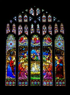 Cathedral Central Stained Glass Window...