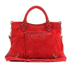 Balenciaga Classic Velo Suede Tote ($1,545) ❤ liked on Polyvore