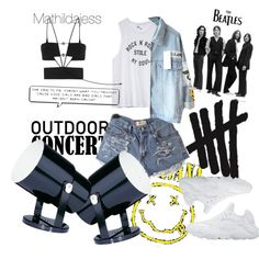 Concert freak by mathildajess on Polyvore featuring polyvore, fashion, style, Volcom, Maticevski, NIKE and Dot & Bo
