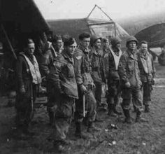 Troops of the 82nd Airborne prior to Operation Market-Garden