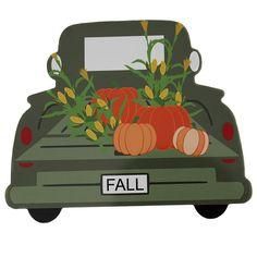 Fall Truck Sign - Pumpkin Truck Sign - Old Truck Decor - Fall Wreath Sign - Fall Decor