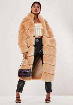 621 items - Need a new coat? Click this way to shop our edit of women's coats and jackets. From puffer jackets to fur coats, we've got you covered. Kpop Fashion Outfits, Fur Fashion, Stylish Outfits, Long Faux Fur Coat, Cool Coats, Maxi Coat, Fox Fur Coat, Fur Coats, Animal Print Fashion