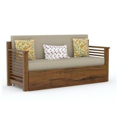 size: when closed and when opend Made for India. Strip Sofa cum bed is made of Indian sheeshamwood (Rosewood). This beautiful, strong and sturdy design polished gloss honey. This will be double bed as you open its dawn pullout trolly. Sofa Cumbed Design, Corner Sofa Design, Living Room Sofa Design, Interior Design, Door Design, Furniture Design, Sofa Come Bed Furniture, Wooden Living Room Furniture, Wood Bedroom