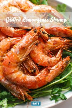 ... shrimp in an Asian marinade made with lemongrass, ginger, garlic, and
