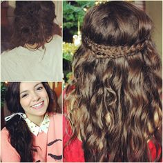 Holiday NO HEAT hairstyles on Macbarbie07! @bethanynoelm