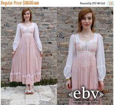 Hippie Dress Hippy Dress Peasant Dress Gunne Sax Dress by shopEBV