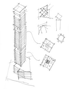 Architectural Drawings Of Skyscrapers veleiro do sul skyscraper - picture gallery | thesis | pinterest