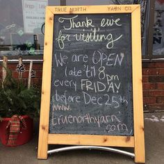 We're open late til today! True North, Let It Snow, Knit Crochet, Photo And Video, Videos, Instagram, Crochet, Video Clip, Snow