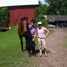 Cara and Coach Sarah with Event rider Carol Kozlowski. We survived and loved it:) #CazenoviaEquestrian