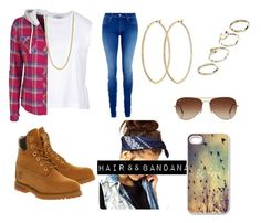 """""""#ThugLife"""" by nina4ever14 ❤ liked on Polyvore featuring Valentino, Salsa, Timberland, FOSSIL, Henri Bendel, ASOS and Rayban"""