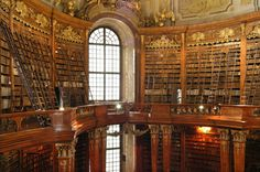 Austrian National Library in Vienna via World Shaker. Where's the Beast?